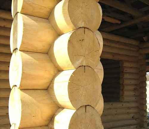 Материал Оцилиндрованное бревно - Уют Строй - срубы домов и бань