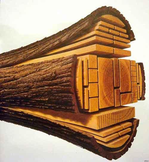 Распила кругляка (брёвен) - Уют Строй - срубы домов и бань