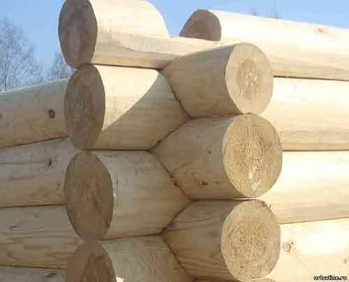 Материал Бревно ручной острожки - Уют Строй - срубы домов и бань