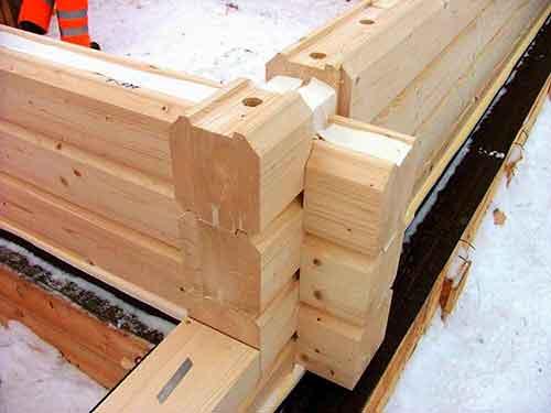 Материал Профилированный брус - Уют Строй - срубы домов и бань